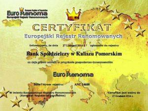 Certyfikat ANC 14608