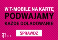 """Promocja """"Podwójne doładowanie"""" w T-Mobile na kartę"""