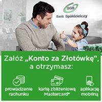 """""""Konto za złotówkę"""" w BS Kalisz Pomorski"""