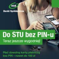 Teraz jeszcze wygodniej! Płać dowolną kartą płatniczą bez PIN – nawet do 100 zł.
