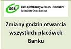 Godziny otwarcia Banku 24.12 i 31.12